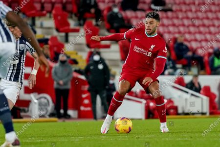 Liverpool midfielder Alex Oxlade-Chamberlain (15) during the Premier League match between Liverpool and West Bromwich Albion at Anfield, Liverpool