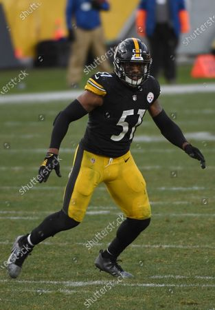 Stock Image of Pittsburgh Steelers inside linebacker Avery Williamson (51) in action during an NFL football game against the Indianapolis Colts, in Pittsburgh