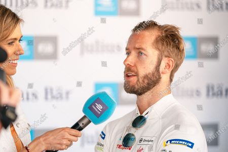 Sam Bird (GBR), Envision Virgin Racing talks to TV Presenter Nicki Shields