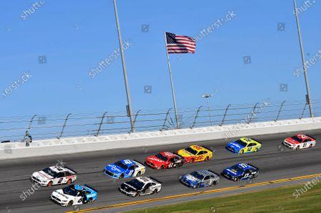 #6: Ryan Newman, Roush Fenway Racing, Ford Mustang Koch Industries, #2: Brad Keselowski, Team Penske, Ford Mustang Discount Tire, #10: Aric Almirola, Stewart-Haas Racing, Ford Mustang Smithfield, #47: Ricky Stenhouse Jr., JTG Daugherty Racing, Chevrolet Camaro Kroger, #41: Cole Custer, Stewart-Haas Racing, Ford Mustang Haas Automation, #4: Kevin Harvick, Stewart-Haas Racing, Ford Mustang Busch Light #PIT4BUSCH, #22: Joey Logano, Team Penske, Ford Mustang Shell Pennzoil, #17: Chris Buescher, Roush Fenway Racing, Ford Mustang Fastenal, #12: Ryan Blaney, Team Penske, Ford Mustang Menards / Peak, #21: Matt DiBenedetto, Wood Brothers Racing, Ford Mustang Motorcraft/Quick Lane