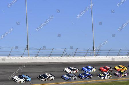 #6: Ryan Newman, Roush Fenway Racing, Ford Mustang Koch Industries, #10: Aric Almirola, Stewart-Haas Racing, Ford Mustang Smithfield, #4: Kevin Harvick, Stewart-Haas Racing, Ford Mustang Busch Light #PIT4BUSCH, #2: Brad Keselowski, Team Penske, Ford Mustang Discount Tire, #17: Chris Buescher, Roush Fenway Racing, Ford Mustang Fastenal, #47: Ricky Stenhouse Jr., JTG Daugherty Racing, Chevrolet Camaro Kroger, #9: Chase Elliott, Hendrick Motorsports, Chevrolet Camaro NAPA Auto Parts, #41: Cole Custer, Stewart-Haas Racing, Ford Mustang Haas Automation, #48: Jimmie Johnson, Hendrick Motorsports, Chevrolet Camaro Ally, #22: Joey Logano, Team Penske, Ford Mustang Shell Pennzoil