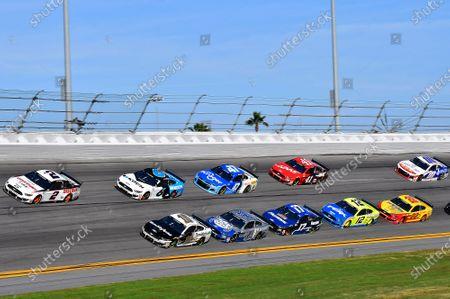 #2: Brad Keselowski, Team Penske, Ford Mustang Discount Tire, #10: Aric Almirola, Stewart-Haas Racing, Ford Mustang Smithfield, #6: Ryan Newman, Roush Fenway Racing, Ford Mustang Koch Industries, #4: Kevin Harvick, Stewart-Haas Racing, Ford Mustang Busch Light #PIT4BUSCH, #47: Ricky Stenhouse Jr., JTG Daugherty Racing, Chevrolet Camaro Kroger, #17: Chris Buescher, Roush Fenway Racing, Ford Mustang Fastenal, #12: Ryan Blaney, Team Penske, Ford Mustang Menards / Peak, #41: Cole Custer, Stewart-Haas Racing, Ford Mustang Haas Automation, #22: Joey Logano, Team Penske, Ford Mustang Shell Pennzoil