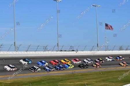 #2: Brad Keselowski, Team Penske, Ford Mustang Discount Tire, #10: Aric Almirola, Stewart-Haas Racing, Ford Mustang Smithfield, #6: Ryan Newman, Roush Fenway Racing, Ford Mustang Koch Industries, #4: Kevin Harvick, Stewart-Haas Racing, Ford Mustang Busch Light #PIT4BUSCH, #47: Ricky Stenhouse Jr., JTG Daugherty Racing, Chevrolet Camaro Kroger, #17: Chris Buescher, Roush Fenway Racing, Ford Mustang Fastenal, #41: Cole Custer, Stewart-Haas Racing, Ford Mustang Haas Automation
