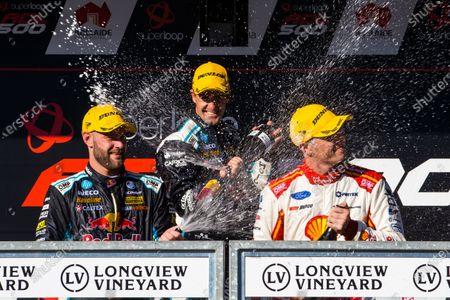 Shane van Gisbergen, Triple Eight Race Engineering Holden, Jamie Whincup, Triple Eight Race Engineering Holden, Scott McLaughlin, DJR Team Penske Ford
