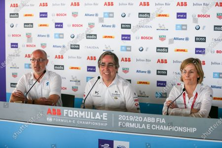 Christian Silk, Team Principal for NIO 333, Mark Preston, Team Principal, DS Techeetah and Susie Wolff, Team Principal, Venturi