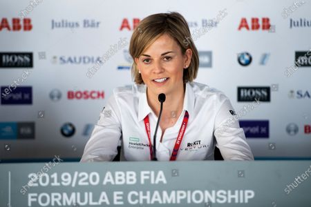 Susie Wolff, Team Principal, Venturi during press conference.