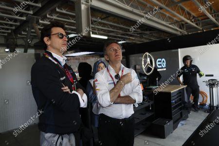 Toto Wolff, Husband of Susie Wolff, Team Principal, Venturi woth Alejandro Agag, Chairman of Formula E