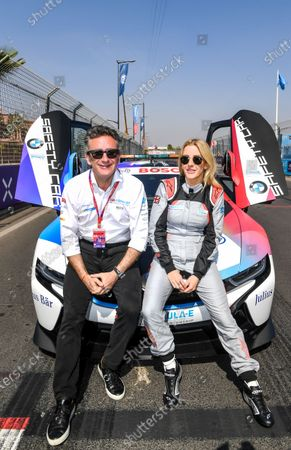 Singer Ellie Goulding with Alejandro Agag, Chairman of Formula E