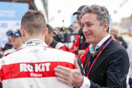Stock Picture of Alejandro Agag, Chairman of Formula E with Edoardo Mortara (CHE) Venturi