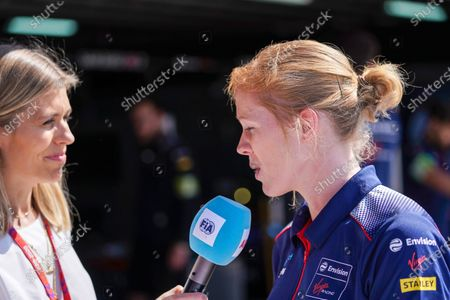 Nicki Shields and Alice Powell (GBR), Rookie Test Driver for Envision Virgin Racing