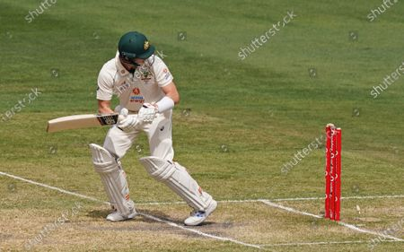 Stock Image of Steven Smith of Australia is bowled out during day three of the second Test Match between Australia and India at The MCG, Melbourne, Australia, 28 December 2020.