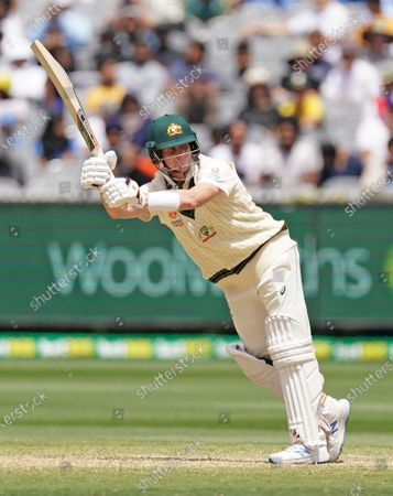 Steven Smith of Australia bats during day three of the second Test Match between Australia and India at The Melbourne Cricket Ground (MCG), in Melbourne, Victoria, Australia, 28 December 2020.