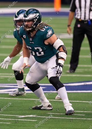 Philadelphia Eagles center Jason Kelce (62) during an NFL football game against the Dallas Cowboys, in Arlington, Texas. Dallas won 37-17