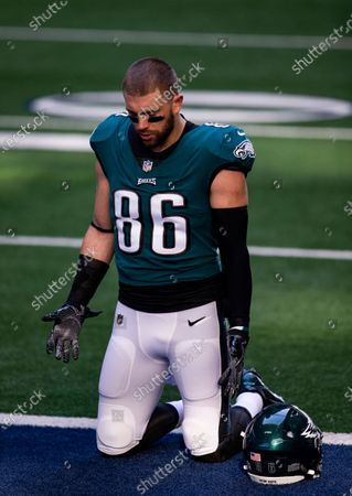 Philadelphia Eagles tight end Zach Ertz (86) during an NFL football game against the Dallas Cowboys, in Arlington, Texas. Dallas won 37-17