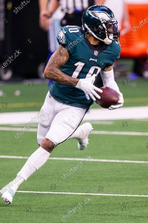 Philadelphia Eagles wide receiver DeSean Jackson (10) during an NFL football game against the Dallas Cowboys, in Arlington, Texas. Dallas won 37-17