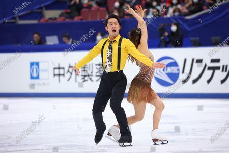 Kana Muramoto & Daisuke Takahashi - Figure Skating :  Japan Figure Skating Championships 2020  Ice Dance Rhythm Dance at BIG HAT in Nagano, Japan.