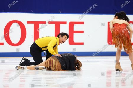 Kana Muramoto & Daisuke Takahashi - Figure Skating :  Japan Figure Skating Championships 2020  Ice Dance practice  at Big Hat in Nagano, Japan.