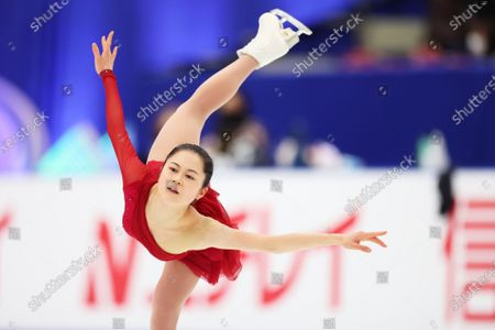 Stock Photo of Satoko Miyahara - Figure Skating :  Japan Figure Skating Championships 2020  Women's practice  at Big Hat in Nagano, Japan.