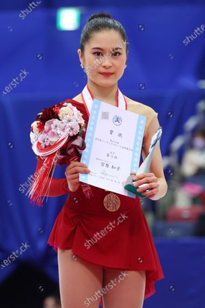 Satoko Miyahara - Figure Skating :  Japan Figure Skating Championships 2020  Women's Award ceremony at BIG HAT in Nagano, Japan.
