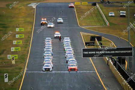 Shane van Gisbergen, Triple Eight Engineering Holden, and Scott McLaughlin, DJR Team Penske Ford