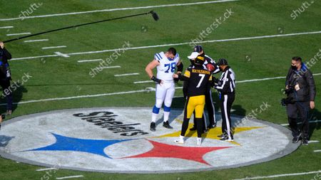 th, Ben Roethlisberger #7, and Ryan Kelly #78 during the Pittsburgh Steelers vs Indianapolis Colts game at Heinz Field in Pittsburgh, PA