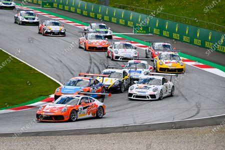 Stock Image of Max van Splunteren (NED, Team GP Elite), Julian Hanses (DEU, Lechner Racing Middle East), Jean-Baptiste Simmenauer (FRA, Lechner Racing Middle East) and Laurin Heinrich (DEU, MRS GT-Racing)