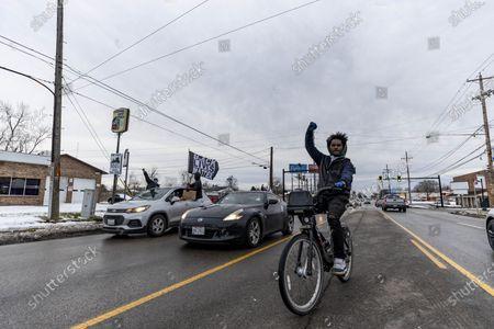 Editorial image of Andre' Hill Car Caravan in Columbus, US - 27 Dec 2020