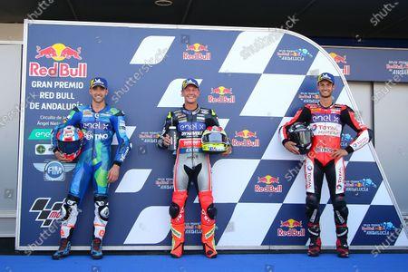 Stock Photo of Michele Ferrari, Dominique Aegerter, Dynavolt Intact GP, Lukas Tulovic, Tech 3 E-Racing.