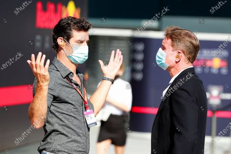 Stock Image of Mark Webber, Presenter and David Coulthard, Presenter
