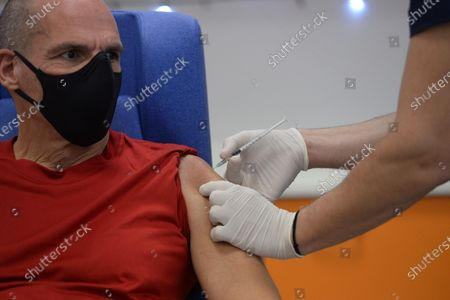 Editorial image of Vaccine injection against Covid-19 in Greece, Athens, Attiki - 27 Dec 2020