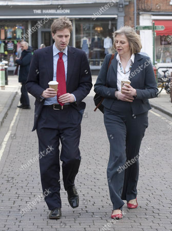 Theresa May and Prospective MP for Winchester and Chandler's Ford Steve Brine