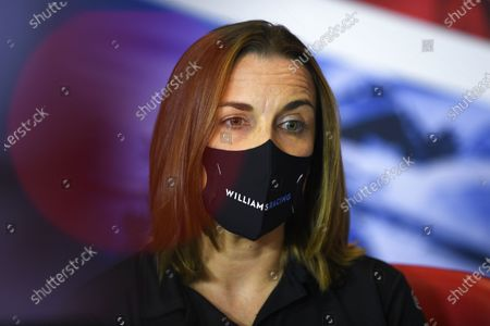 Claire Williams, Deputy Team Principal, Williams Racing, in the team principals Press Conference