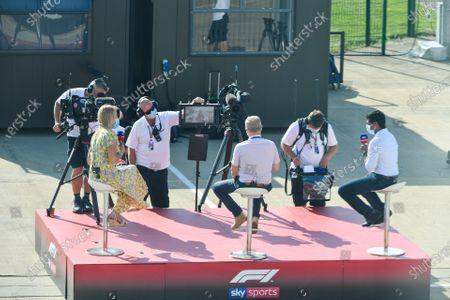 Rachel Brookes, Sky TV, Johnny Herbert, Sky TV, and Karun Chandhok, Sky TV