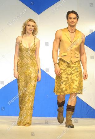 Stock Photo of Hilary Rowland and Marcus Schenkenberg