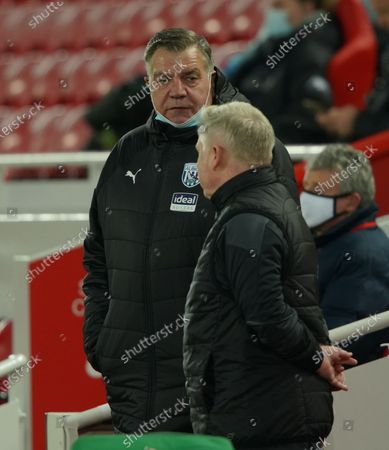 Sam Allardyce and Sammy Lee. © Ian Hodgson/Daily Mail/dmg media Licensing