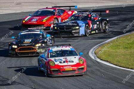 #58 Snow Racing Porsche 911 GT America Porsche: Madison Snow, Jan Heylen, Marco Seefried, #009 TRG-AMR Aston Martin V12 Vantage: Calum Lockie, Pete McIntosh, Robert Nimkroff, Max Riddle, Jonny Adam