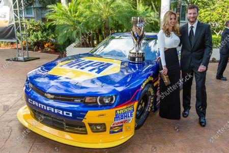 Dale Earnhardt Jr. with girlfriend Amy Reimann
