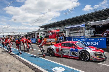 #502 Audi Race Experience Audi R8 LMS ultra: Felix Baumgartner, Marco Werner, Frank Biela, Pierre Kaffer heads back to track