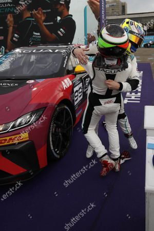 Simon Evans (NZL), Team Asia New Zealand 1st position, celebrates winning the drivers championship with Nick Foster (AUS), Jaguar China Racing