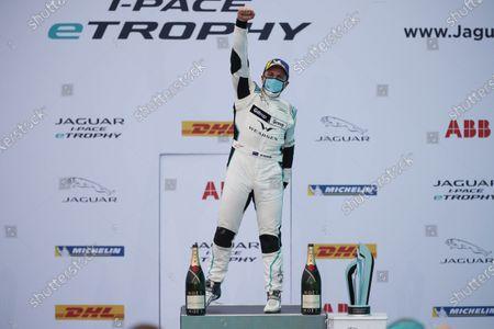 Simon Evans (NZL), Team Asia New Zealand 1st position, celebrates winning the drivers championship on the podium