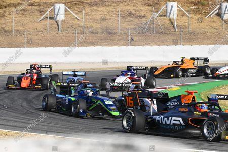 Jack Doohan (AUS, HWA RACELAB), Cameron Das (USA, CARLIN BUZZ RACING) and Lukas Dunner (AUT, MP MOTORSPORT)