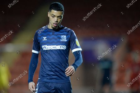 Louis Walsh of Southend United in action during Sky Bet League Two match between Leyton Orient and Southend United at The Breyer Group Stadium in Leyton, UK - 29th December 2020