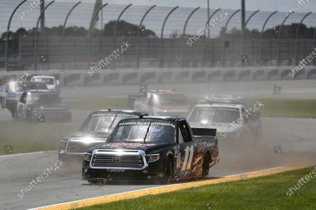 #11: Spencer Davis, Spencer Davis Motorsports, Toyota Tundra, #30: Scott Lagasse Jr, On Point Motorsports, Toyota Tundra