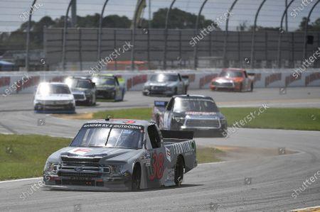 #38: Todd Gilliland, Front Row Motorsports, Ford F-150 Frontline Enterprises Inc, #11: Spencer Davis, Spencer Davis Motorsports, Toyota Tundra