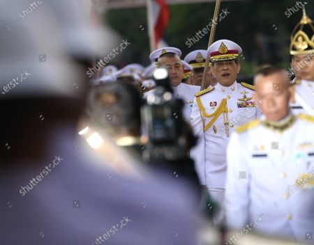 Thai King Maha Vajiralongkorn Bodindradebayavarangkun (R)  to preside over the wreath-laying ceremony  of King Taksin's Day at the King Taksin Monument in Bangkok, Thailand, 28 December 2020. King Taksin Memorial Day is celebrated on 28 December commemorating the day only king of the Thonburi Dynasty was crowned at Wang Derm Palace in Thonburi, the new capital of Siam in 1767.
