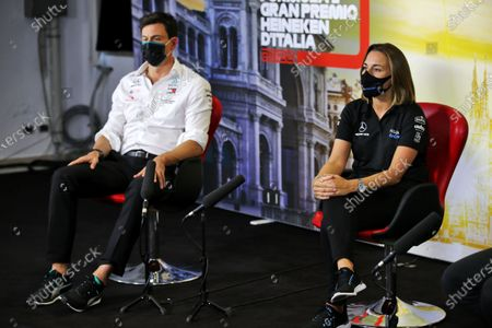 Toto Wolff, Executive Director (Business), Mercedes AMG and Claire Williams, Deputy Team Principal, Williams Racing in the press conference