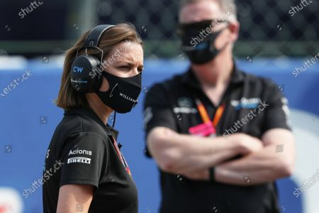 Claire Williams, Deputy Team Principal, Williams Racing, on the grid