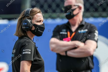 Stock Photo of Claire Williams, Deputy Team Principal, Williams Racing, on the grid