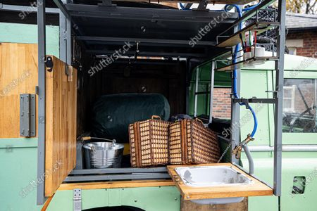 Stock Photo of A classic Land Rover that chef Hugh Fearnley-Whittingstall converted into his very own mobile gastropub has sold at auction for nearly £30,000.