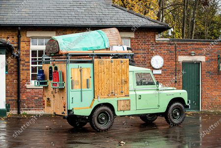 Stock Picture of A classic Land Rover that chef Hugh Fearnley-Whittingstall converted into his very own mobile gastropub has sold at auction for nearly £30,000.